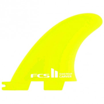 FCS II Fins Carver Neo Glass Quad Rears Small - Lime
