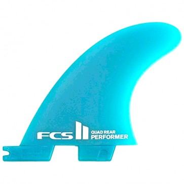 FCS II Fins Performer Neo Glass Quad Rears Medium - Blue