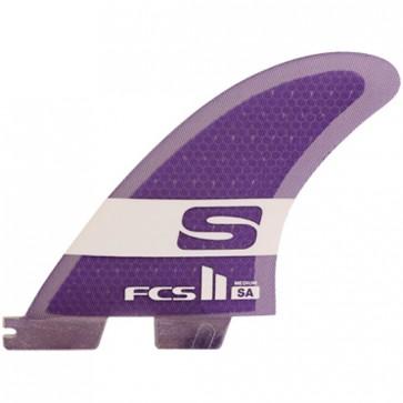 FCS II Fins SA PC - Purple/Clear