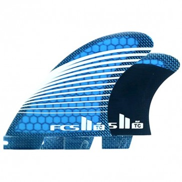FCS II Fins TC Quad SUP Fin - Teal/White Stripes