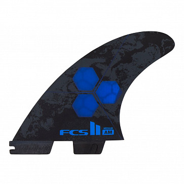 FCS II Al Merrick PC Medium Tri-Quad Fin Set - Cobalt