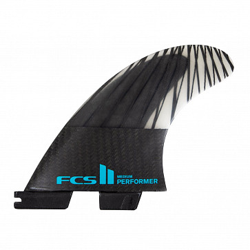 FCS II Performer PC Carbon Medium Tri Fin Set