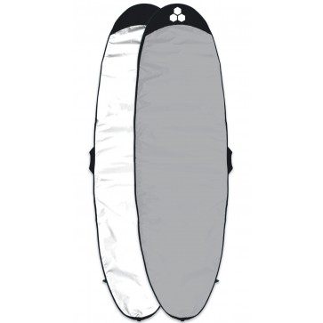 Channel Islands Feather Lite Longboard Surfboard Bag - White/Silver