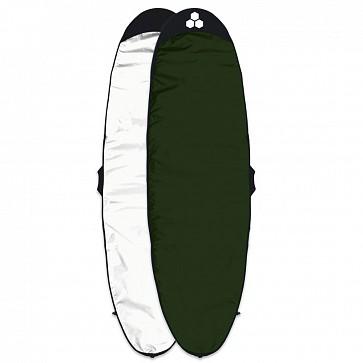 Channel Islands Feather Lite Longboard Surfboard Bag - White/Dark Green