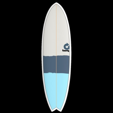 Torq Mod Fish 6'3 x 20 1/2 x 2 1/4 Surfboard - Green/Orange/Grey - Top