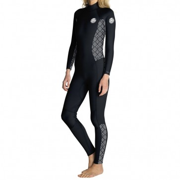 Rip Curl Women's Dawn Patrol 4/3 Back Zip Wetsuit - Black/Wash