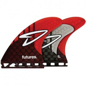 Futures Fins Roberts Generation Tri-Quad - Carbon/Red