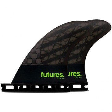Futures Fins QD2 4.0 Blackstix Quad Rears Fin Set