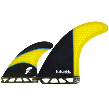 Futures Fins Taylor Jensen 2 + 1 - Carbon/Yellow