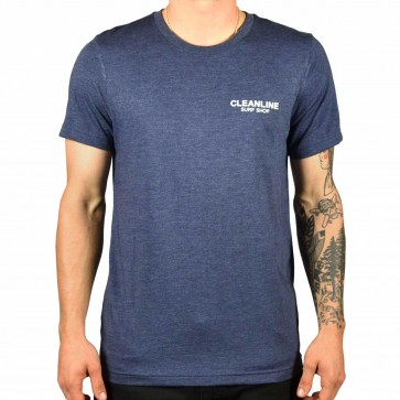 Cleanline Lines T-Shirt - Navy/White