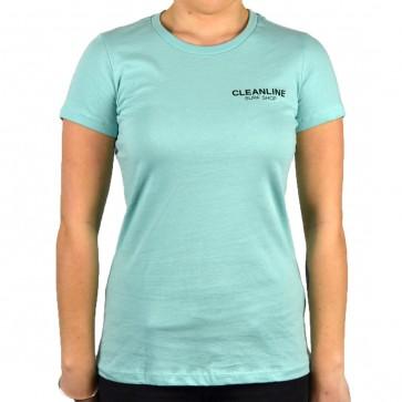 Cleanline Women's Lines Top - Seafoam Blue/Black
