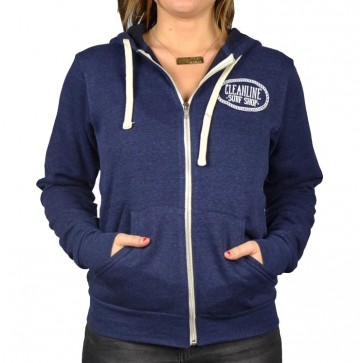 Cleanline Women's Anchor Cannon Beach Zip Hoodie - Navy
