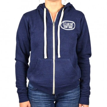 Cleanline Women's Anchor Seaside Zip Hoodie - Navy