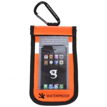 Geckobrands Waterproof Small Phone Dry Bag - Orange
