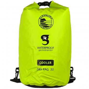 Geckobrands X Cleanline Tarpaulin 30L Dry Cooler Bag - Green