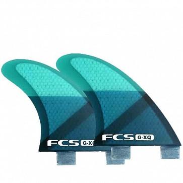 FCS Fins GXQ Quad Rears Fin Set - Blue