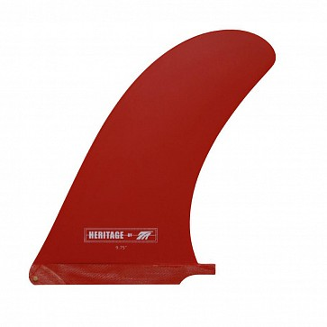 True Ames 9.75'' Heritage Fin - Solid Red