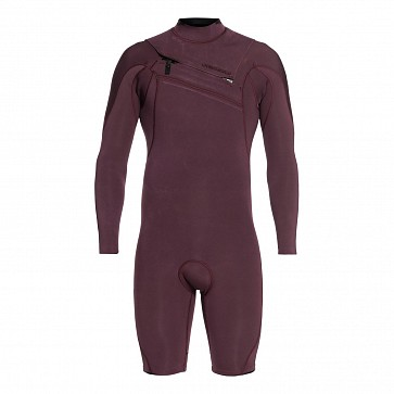 Quiksilver Highline Limited 2mm Long Sleeve Chest Zip Spring Wetsuit - Wine