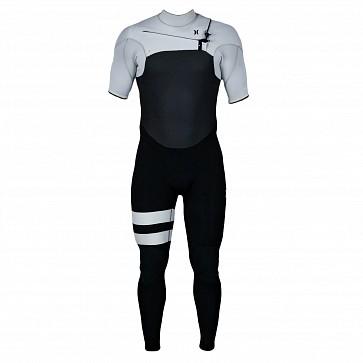 Hurley Advantage Plus 2/2 Short Sleeve Chest Zip Wetsuit - Light Cream