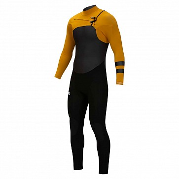 Hurley Advantage Plus 3/2 Chest Zip Wetsuit - Gold Suede