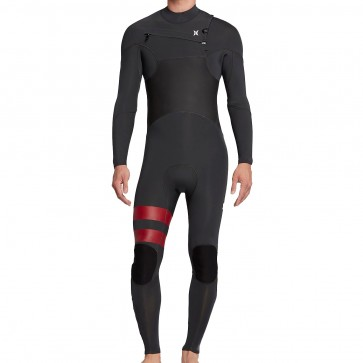 Hurley Advantage Plus 4/3 Chest Zip Wetsuit - Anthracite