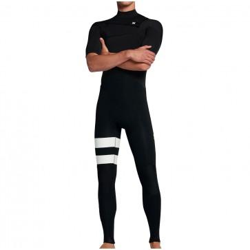 Hurley Advantage Plus 2/2 Short Sleeve Chest Zip Wetsuit - Black