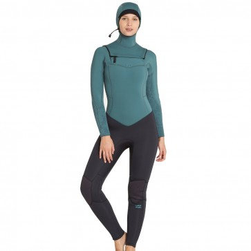 Billabong Women's  Synergy 5/4 Hooded  Wetsuit - Sugar Pine