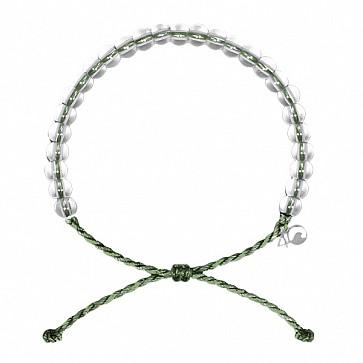 4Ocean Leatherbacks Bracelet - Kale Green