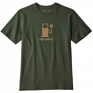 Patagonia Live Simply Power T-Shirt - Nomad Green