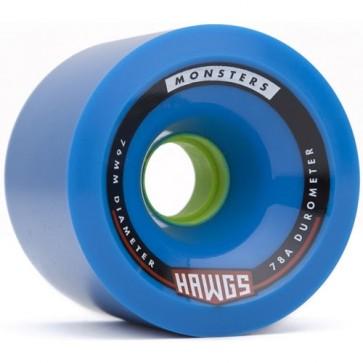 Landyachtz 76mm Monster Hawgs Wheels - Blue