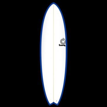 Torq Mod Fish 6'10 x 21 3/4 x 2 3/4 Surfboard - Blue/White - Top