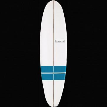 Modern Blackbird Surfboard - Blue Bands - Deck