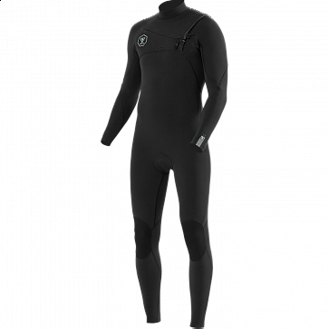 Vissla Seven Seas 3/2 Chest Zip Wetsuit - Black/Jade