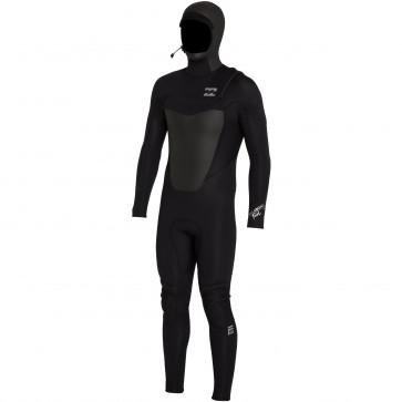 Billabong Foil Plus 5/4 Hooded Chest Zip Wetsuit - Black