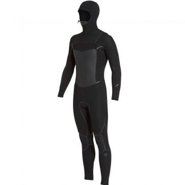 Billabong Furnace Absolute X 5/4 Hooded Chest Zip - Black