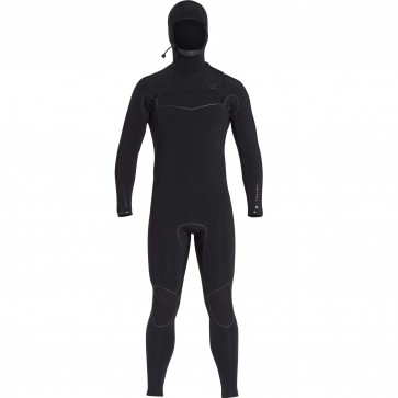 Billabong Furnace Carbon Ultra 6/5 Hooded Chest Zip Wetsuit - Black