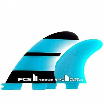 FCS II Fins Performer Neo Glass Tri-Quad Medium - Blue/Black