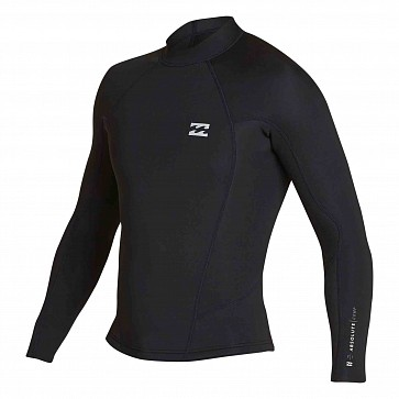 Billabong Absolute Comp 2mm Long Sleeve Jacket - Black/Silver