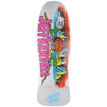 Santa Cruz Skateboards Kendall Pumpkin Prismatic Streak Pro Deck - Silver