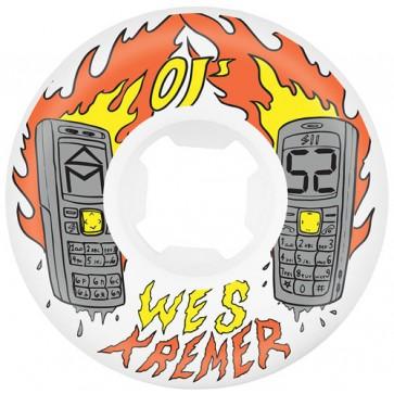 OJ Wheels 52mm Kremer Burners RIP Wheels - White