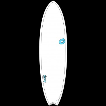 Torq Mod Fish TET-CS 6'3 x 20 1/2 x 2 1/2 Surfboard - Top