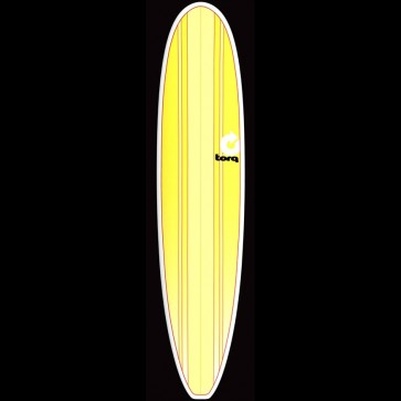 Torq Surfboards 8'6'' Torq Longboard - Yellow Vert Stripe