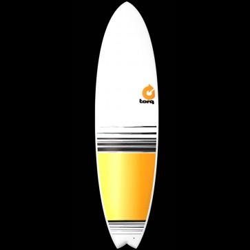 Torq Surfboards 7'2'' Torq Mod Fish - Yellow/Orange Fade