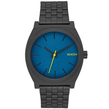 Nixon Time Teller Watch - All Black/Seaport Blue