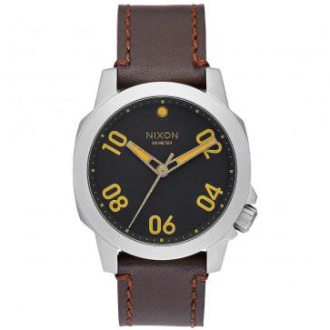 Nixon Ranger 40 Leather Watch - Black/Brown