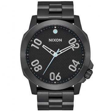Nixon Ranger 45 Watch - All Black/Blue