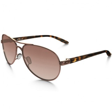 Oakley Women's Feedback Sunglasses - Rose Gold/VR50 Brown Gradient