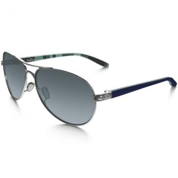 Oakley Women's Feedback Polarized Sunglasses - Polished Chrome/Grey Gradient