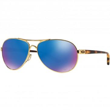 Oakley Women's Feedback Polarized Sunglasses - Polished Gold/Sapphire Iridium