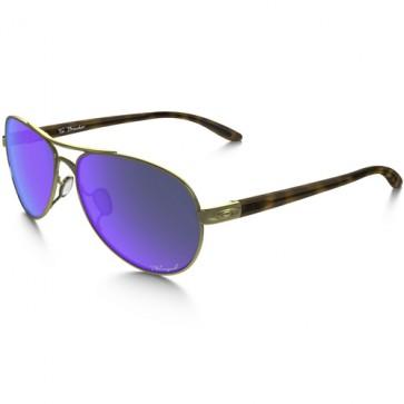 Oakley Women's Tie Breaker Polarized Sunglasses - Polished Gold/Violet Iridium